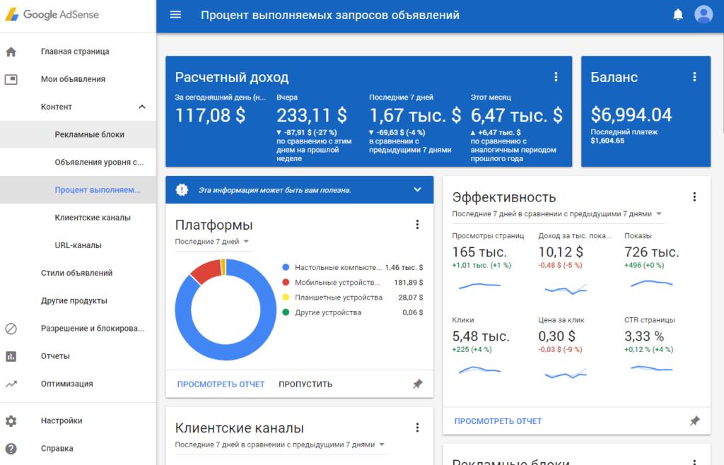 Заработок в youTube на AdSense